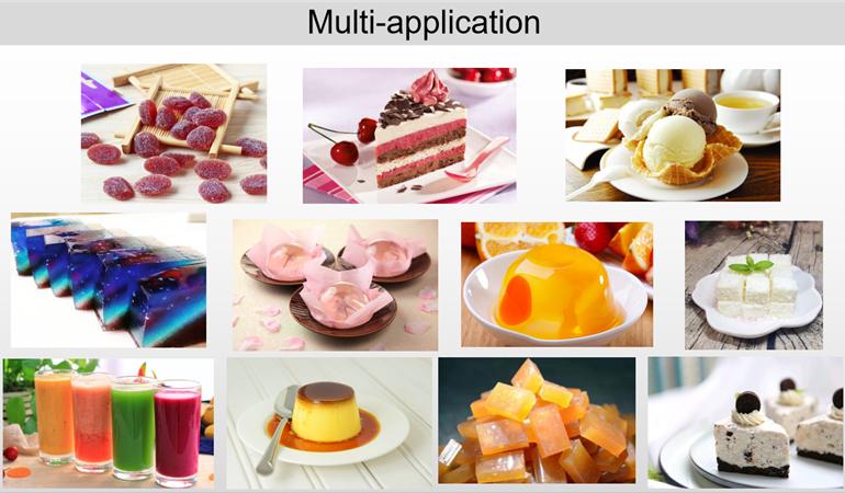 Edible gelatin in food applications
